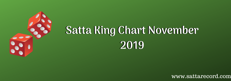 Satta King Chart November 2019