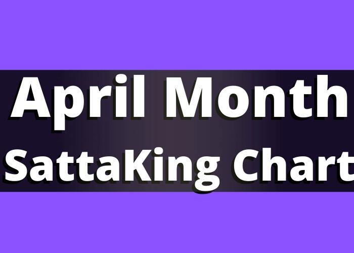 April Month Satta King Chart Record 2020