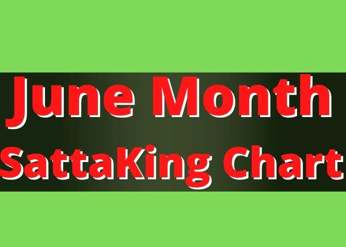 June Month Satta King Chart Record 2020