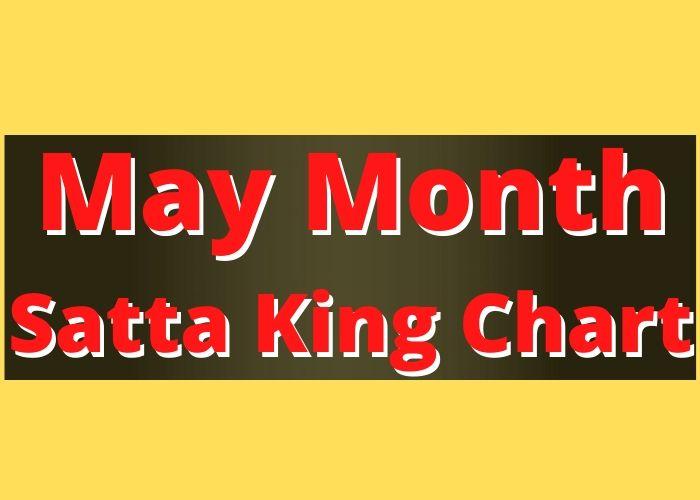 May Month Satta King Chart Record 2020
