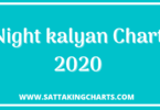 night kalyan chart
