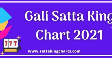 Gali Satta Chart 2021